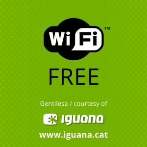 Free Wi-fi gentilesa d'Iguana